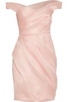 Lela Rose Pleated silk-organza dress   NET-A-PORTER
