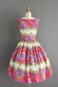 e7bc4e3e9c62 Vintage Dresses 50s, 50s Dresses, 50s Vintage, Spring Dresses, Vintage  Vibes,