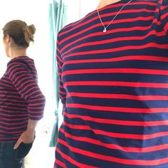 There is this Autumn smell in the air so let's switch our white Bretons for the navy ones.  A Breton is not just for the summer, a Breton is for life !  Shop this navy/red top at thenauticalcompany.com #bretonstyle #breton #bretonstripes #stripes #stripeaddict #stripesanonymous #womenswear #womenfashion #fashiongram #styleblogger #outfitoftoday #Frenchstyle #katemiddletonstyle #autumnwardrobe #fashionblogger #fashionlover #thenauticalcompany #nauticalfashion Breton Stripes, Red Stripes, Casual Clothes, Casual Outfits, Breton Top, Kate Middleton Style, Nautical Fashion, Navy Women, Fall Wardrobe