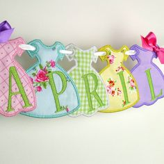 """Party Dress Banner In The Hoop Project Machine Embroidery Design Applique Pattern 2 variations in 3 sizes 4"""", 5"""", 6"""""""