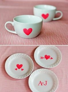 DIY : Create Valentine Dishes with Edible Paint   DIY & Crafts Tutorials