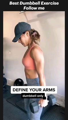Fitness Workouts, Gym Workout Videos, Fitness Workout For Women, Butt Workout, Fitness Goals, Fitness Tips, Fitness Motivation, Tone Arms Workout, Girl Arm Workout