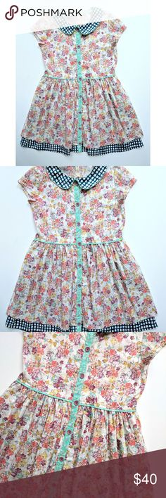 Matilda Jane Friends Forever Dawn Dress 10 Matilda Jane Friends Forever Dawn Dress Collared Floral Poplin   Size:  10  EUC My items come from a smoke-free household, we do have a kitty, so an occasional hair may occur! Matilda Jane Dresses Casual