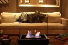 Hg fire's Square Glass fireplace  http://www.hgfire.co/  Indoor Ethanol Fireplace  Chimenea a etanol para interiores