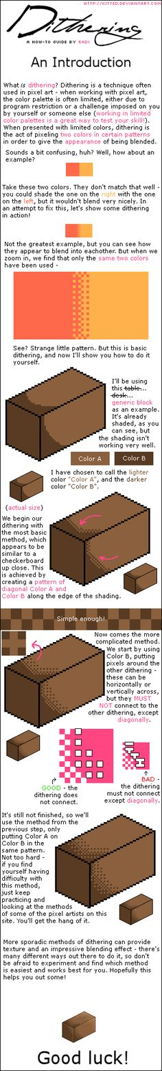 DITHERING TUTORIAL - Basics by ~kitted on deviantART