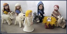 Crocheted Christmas Creche Figures by Kralemie - from annemies blog