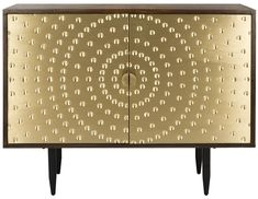 Rina Brass Sideboard 36'' H x 46'' W x 20'' D $890