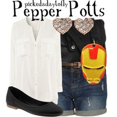 """Pepper Potts"" by pickedadaytofly on Polyvore"