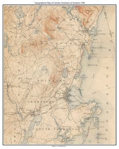 31 Best Maine Old Coast Maps images