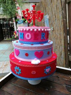 Fake Cake, Box Cake, Birthday Cake, Cupcakes, Desserts, Projects, Food, Felting, Food Cakes