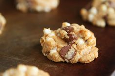 """S'mores cookies - I just made these and they look awesome!!  The little marshmallow bits stay """"in tact"""" and make a beautiful cookie (and they taste pretty good too!)"""