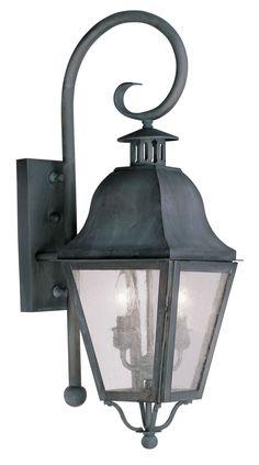 Livex Lighting Amwell Charcoal Outdoor Wall Lantern 2551-61