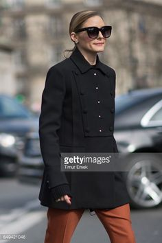 Olivia Palermo seen before the Miu Miu show in the streets of Paris on March 6 2017 in Paris France