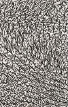 This represents the principle of repetition. Many feathers are drawn to allow a viewer's eyes to flow through the picture, bottom to top. Zentangle Drawings, Zentangle Patterns, Doodle Drawings, Doodle Art, Doodles Zentangles, Pen Drawings, Doodle Patterns, Mandala Art, Posca Art