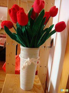 crochet flowers, step pictur, pictur instruct, de crochê, crochet crafts, tulips, crochet pattern, flower crochet, crochet tulip