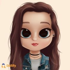 Dollify is dark Kawaii Girl Drawings, Cute Little Drawings, Cute Girl Drawing, Cartoon Girl Drawing, Cartoon Art, Cute Drawings, Cute Girl Wallpaper, Cute Disney Wallpaper, Cute Cartoon Wallpapers