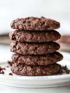 Flourless Double Chocolate Oatmeal Cookies4
