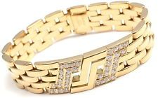 Authentic! Cartier Maillon Panthere 18k Yellow Gold Diamond 5 Row Link Bracelet - Ebay $13,000