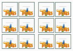 Trolls Holiday Name Tags – Birthday Printable