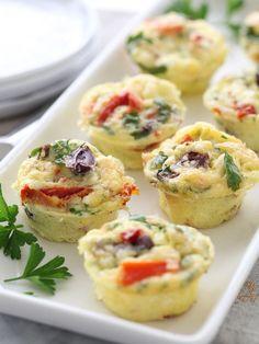 Mediterranean Mini Frittatas | foodiecrush.com
