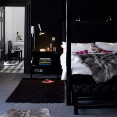 black bedroom design want it