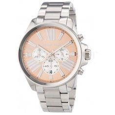 Michael Kors Wren Chronograph Rose Dial Stainless Steel Ladies Watch Stainless steel case with a stainless steel bracelet. Fixed stainless steel bezel. Casual Watches, Watches For Men, Wrist Watches, Stainless Steel Bracelet, Stainless Steel Case, Brand Name Watches, Michael Kors Watch, Mineral, Chronograph