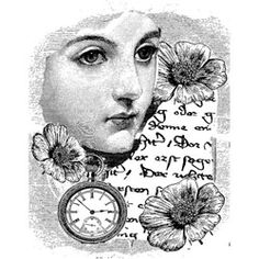 LaBlanche Woman With Clock Silicone Stamp