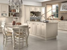Wooden kitchen with island Veronica Collection by LUBE INDUSTRIES S.R.L.