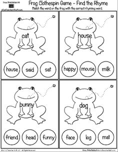 math worksheet : rhyming words printable cards and words on pinterest : Rhyming Words Worksheet For Kindergarten