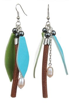 Cercei piele crengute Drop Earrings, Metal, Jewelry, Fashion, Moda, Jewlery, Jewerly, Fashion Styles, Schmuck