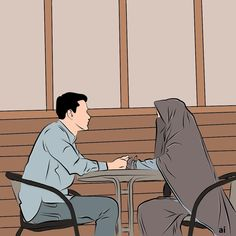 Love Cartoon Couple, Cute Cartoon Pictures, Cute Couple Art, Cute Love Cartoons, Girl Cartoon, Romantic Anime Couples, Cute Muslim Couples, Cute Couples, Cover Wattpad