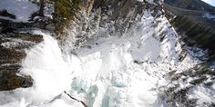 Icy, Snowy, Tumalo Falls just outside Bend, Oregon!