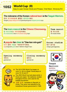 1052-World Cup 2 Chad Meyer and Moon-Jung Kim EasytoLearnKorean.com An Illustrated Guide to Korean Copyright shared with the Korea Times