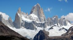 Fitz Roy, El Chalten, Argentina in Patagonia. -   Why?  A hike ending near the base of Fitz Roy, seen from everywhere around El Chalten, is the most challenging, yet most rewarding.  Sitting in the shadows of the massive peak of Fitz Roy and having some lunch was a memorable and satisfying experience.  How?  The first 2/3s of this hike is same as the hike to Lago Piedras Blancas.  If Fitz Roy is your destination, you must turn at the Rio Blanco and start heading up instead of along the river.