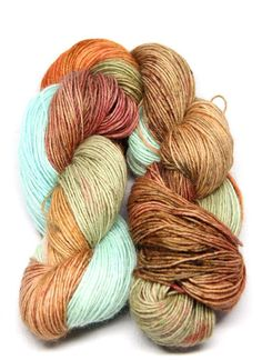 Brown Turquoise Blue Blue Faced Leicester 50 Baby by VLNAart Baby Alpaca, Hand Dyed Yarn, Needles Sizes, Leicester, Knitting Needles, Yarns, Crochet Hooks, Colours, Turquoise