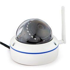 Hoy con el 47% de descuento. Llévalo por solo $347,800.Szsinocam SN-5022CSW de alarma de seguridad IP cámara de alta definición de imágenes con lentes IR 1920 x 1080px Hemisferio Diseño.
