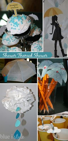 blue i style: {entertaining with style} A Rain Shower Themed Baby Shower