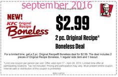 Kfc Coupons Ends of Coupon Promo Codes MAY 2020 ! Worlds Louisville, the The 2018 Fried Wingstreet sales after It Hut, owns is fast y. Kfc Printable Coupons, Kfc Coupons, Grocery Coupons, Love Coupons, Online Coupons, Print Coupons, Free Printables, Kfc Offers, Kfc Original Recipe