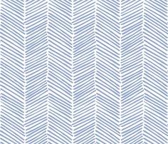 Freeform Arrows Large in denim fabric by domesticate on Spoonflower - custom fabric