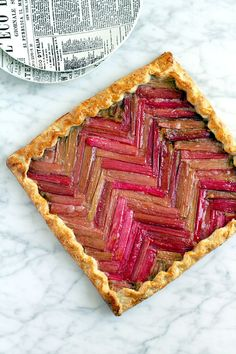 Learn how to make a Honey Rhubarb Galette using this spring dessert recipe.