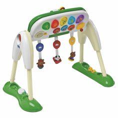 Zestaw gimnastyczny dla dziecka, który stymuluje dziecko do koordynacji pierwszych ruchów.