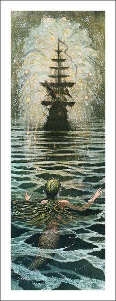 The Little Mermaid/ Hans Christian Andersen/ Seuil, 2006. Illustrator: Boris Diodorov