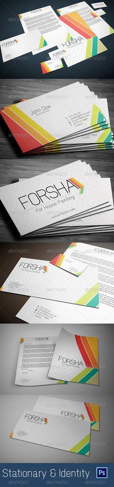 10 best business card images on pinterest business cards carte de stationary identity forsha graphicriver forsha stationary identity templates please don reheart Choice Image