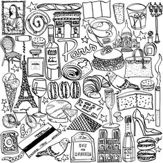 Paris Coloring Page Show Your French Love By Jessie Kanelos Weiner Book