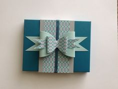 Envelope Punch Board Box for 5 1/2 x 41/4 cards - love this bow!