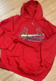 St Louis Cardinals Mens Red Wordmark Big and Tall Hooded Sweatshirt - 2650389 Stl Cardinals, St Louis Cardinals, Great Books, A Team, Hooded Sweatshirts, Hoods, Saints, Big, How To Wear