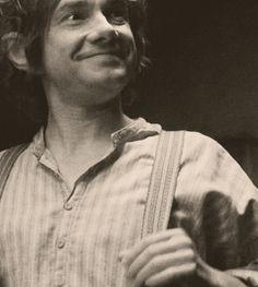 So freakin' cute. Martin Freeman as Bilbo Baggins
