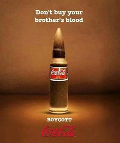 """Stop Being A Part Of This Stupid """"Share A Coke"""" campaign now! Stop supporting Murderers BOYCOTT ISRAEL .. BOYCOTT ISRAEL ..."""
