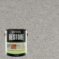 Rust-Oleum Restore 1-gal. Graywash Vertical Liquid Armor Resurfacer for Walls and Siding-43115 - The Home Depot