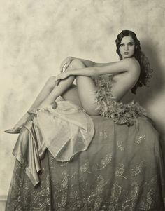 Alice Wilkie, Ziegfeld Girl, 1925 by Alfred Cheney Johnston.  Somewhat nude, but I'm pinning for historical value, NOT erotic value....even though it's a bit of both because she is stunning.